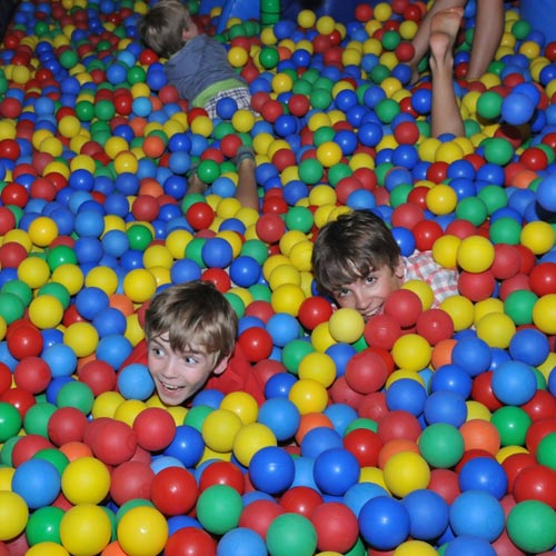 Kids in the Softplay zone