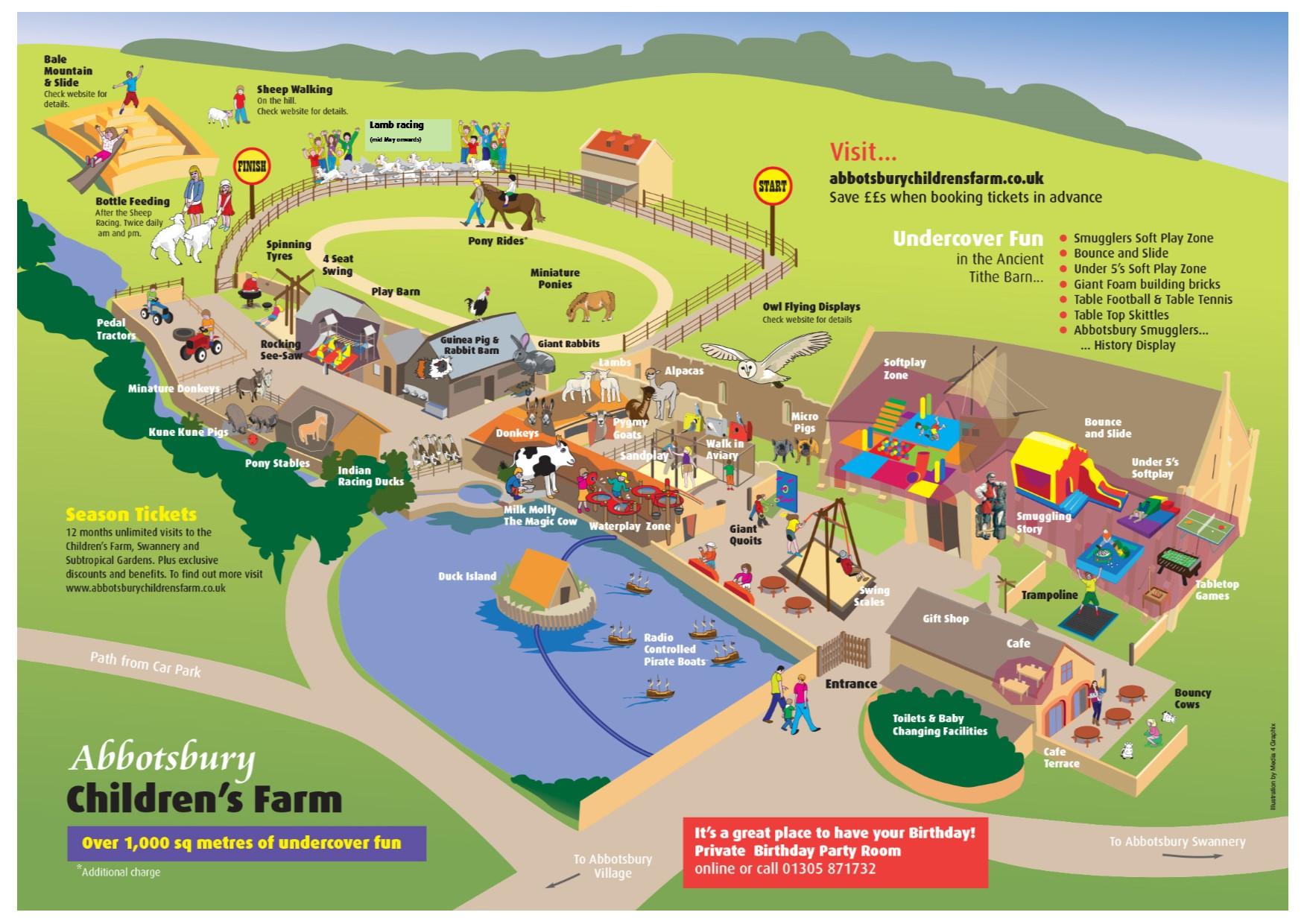 Abbotsbury Children's Farm map 2017