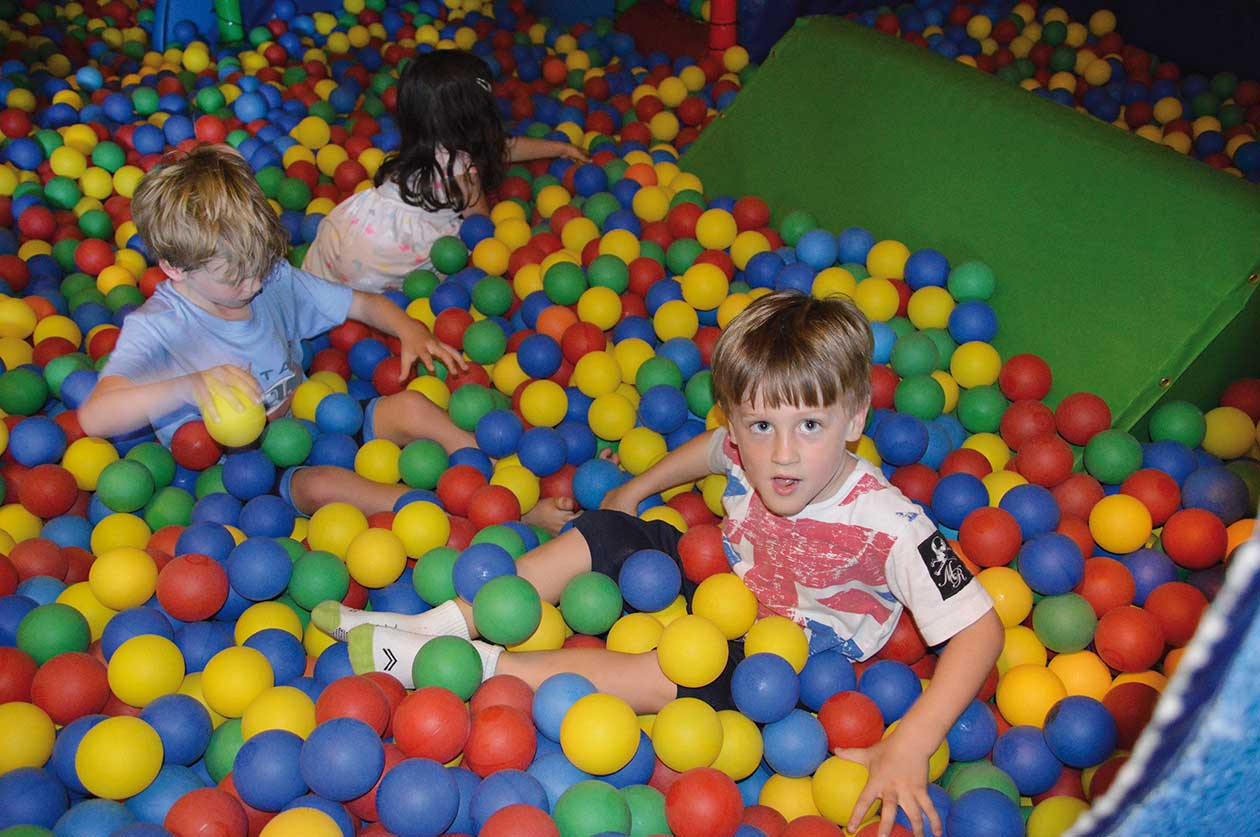 Indoor play area in the Tithe Barn