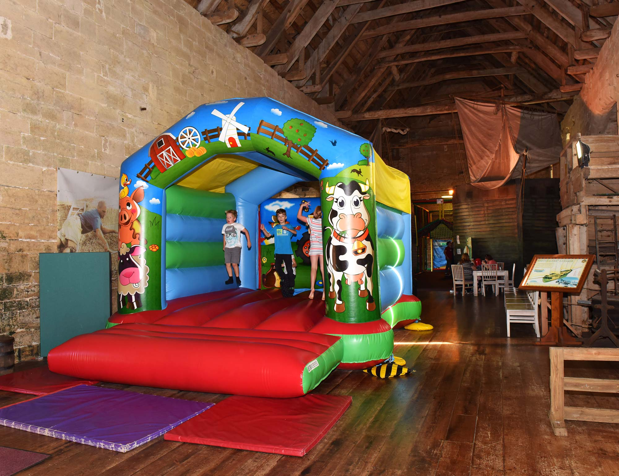 All-weather indoor play area at Abbotsbury Children's Farm