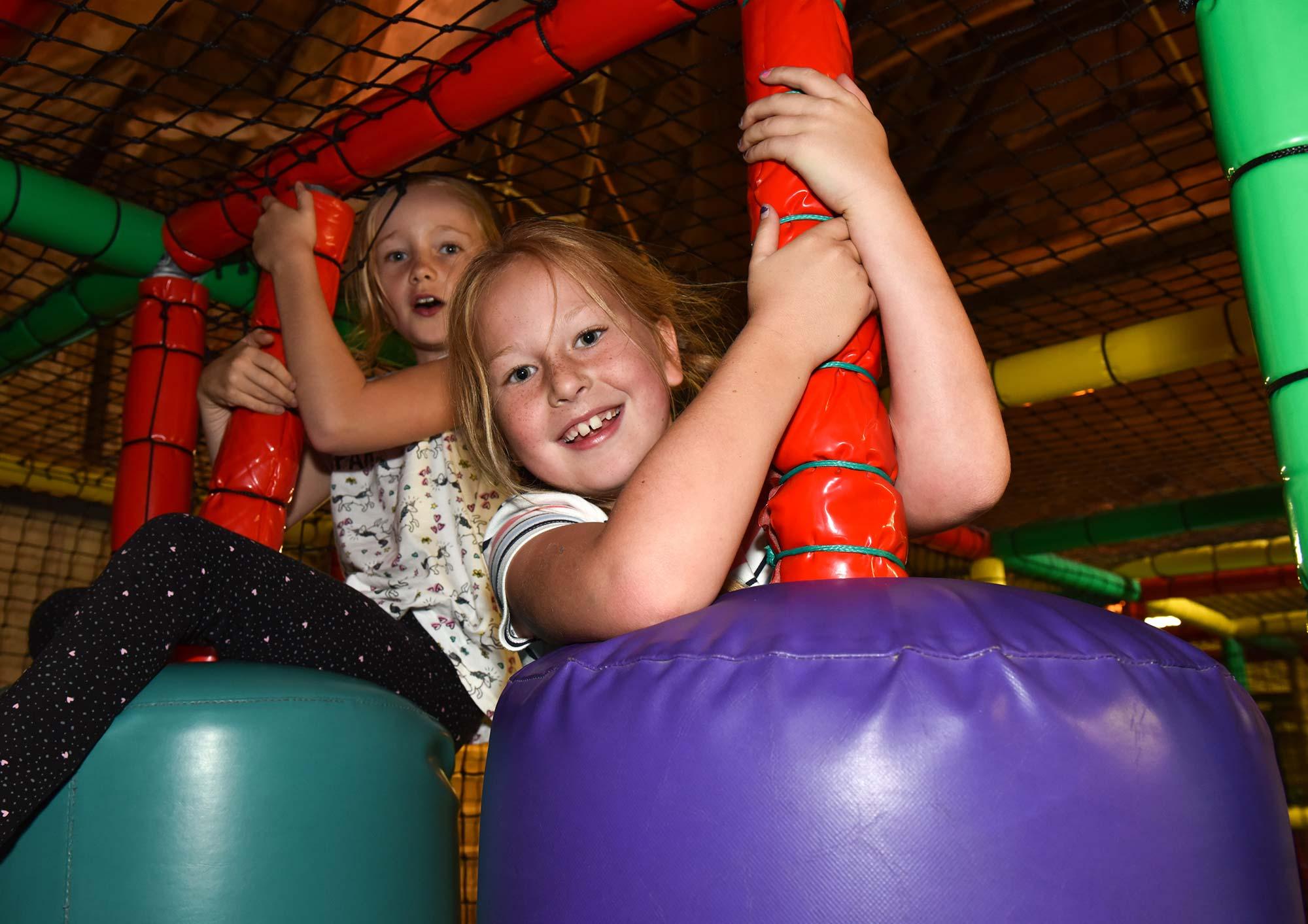 Indoor soft play area at Abbotsbury Children's Farm