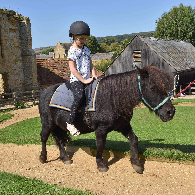 Pony rides at Abbotsbury Children's Farm