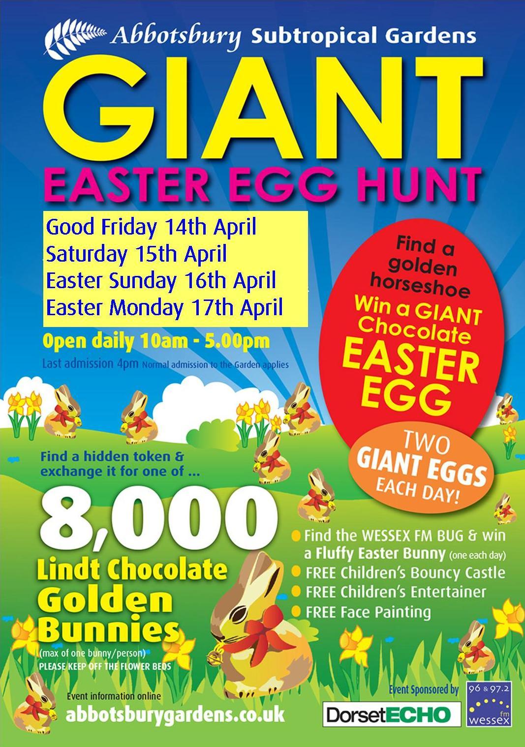 Giant Easter Egg Hunt at Abbotsbury Subtropical Gardens