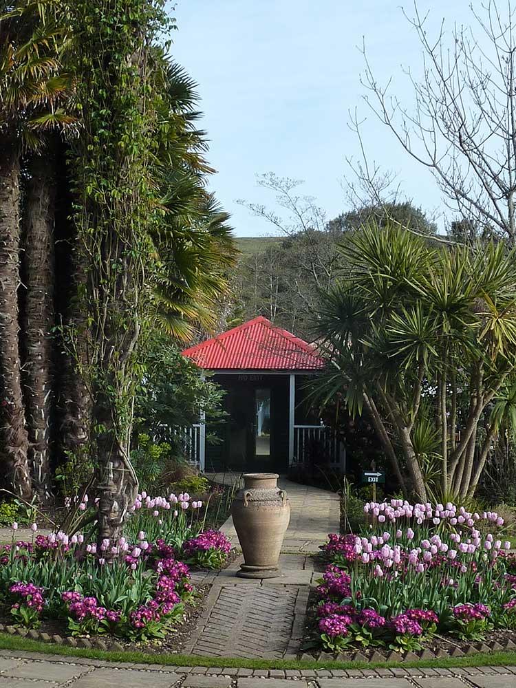 Ticket Office Entrance In Victorian Garden