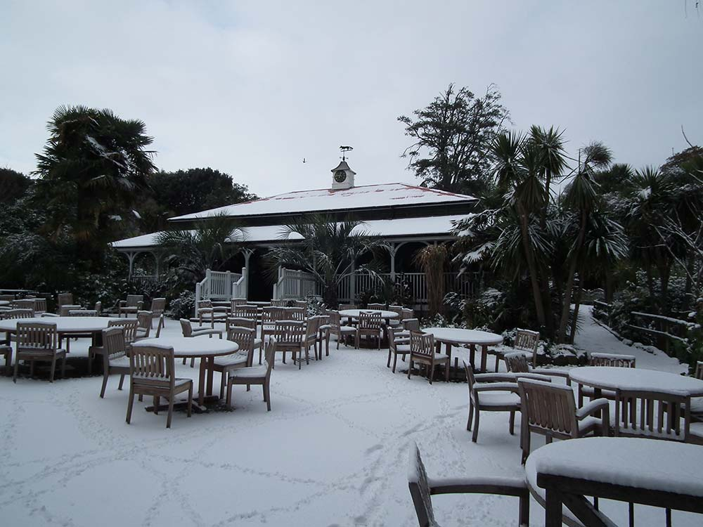 The Colonial Restaurant in the snow