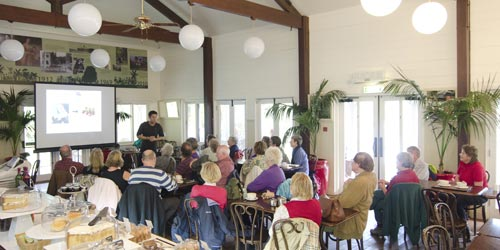 James Wong giving a talk at Abbotsbury Subtropical Gardens' Colonial Restaurant