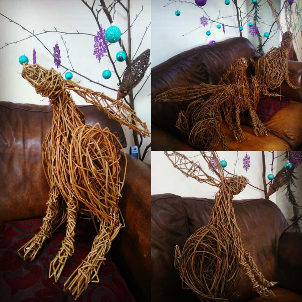 Willow Hare Workshop at Abbotsbury Subtropical Gardens, with Jo Sadler