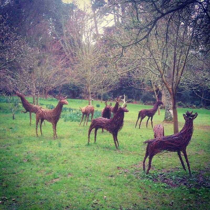 Deer willow sculpture workshop with Jo Sadler