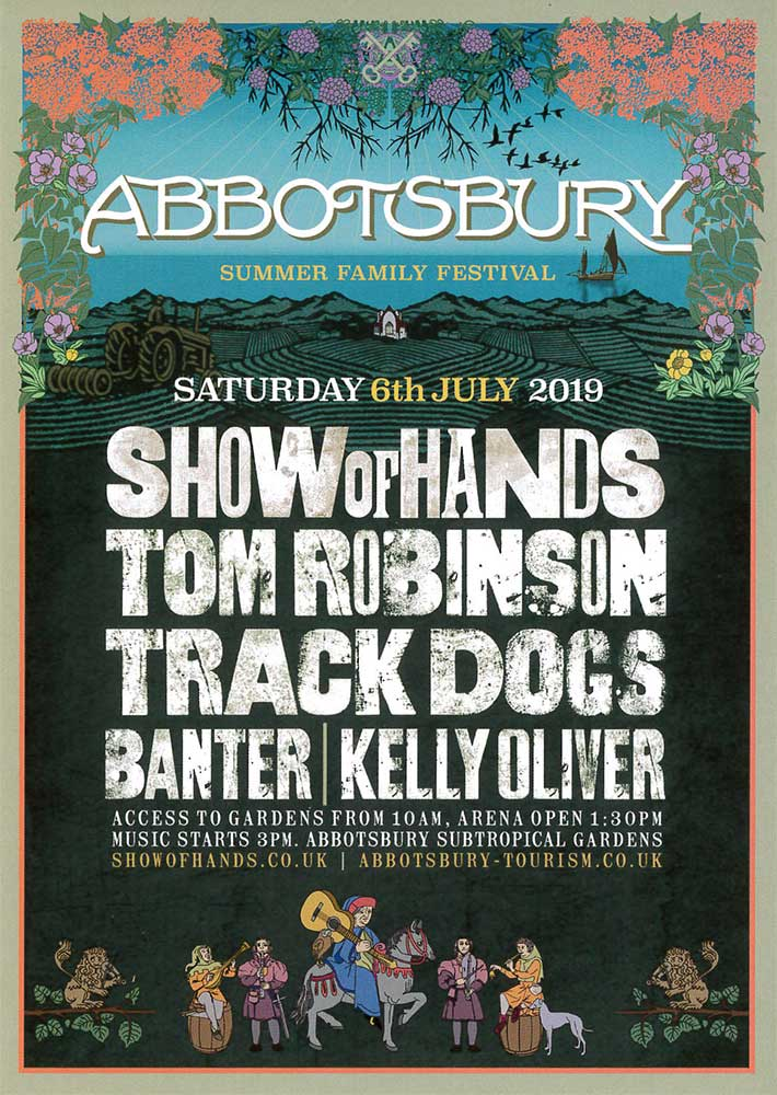 Show of Hands family festival at Abbotsbury Subtropical Gardens - 2019 poster