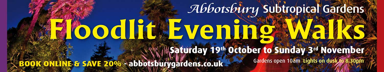 Floodlit Evening Walks at Abbotsbury Subtropical Gardens