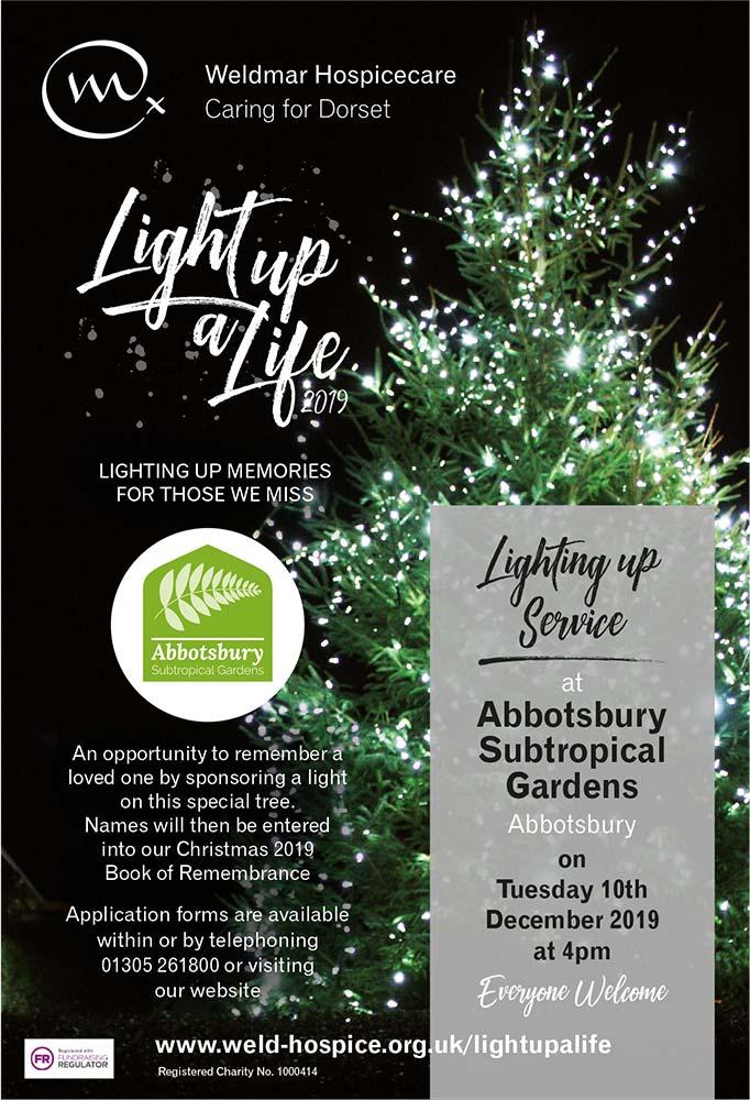 Light up a Life service for Weldmar at Abbotsbury Subtropical Gardens