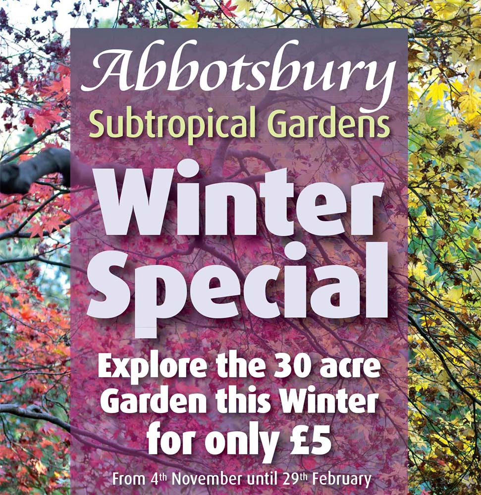 Abbotsbury Subtropical Gardens winter special offer