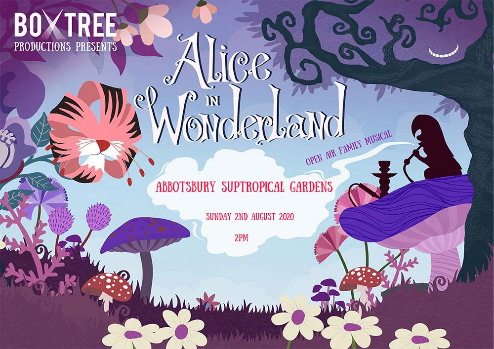 Alice in Wonderland at Abbotsbury Subtropical Gardens