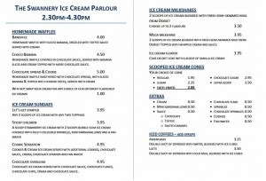 Swannery Parlour menu 2016 - website