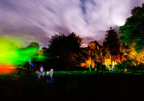 The Enchanted Floodlit Garden - Hallowe'en Fun Evenings at Abbotsbury Subtropical Gardens