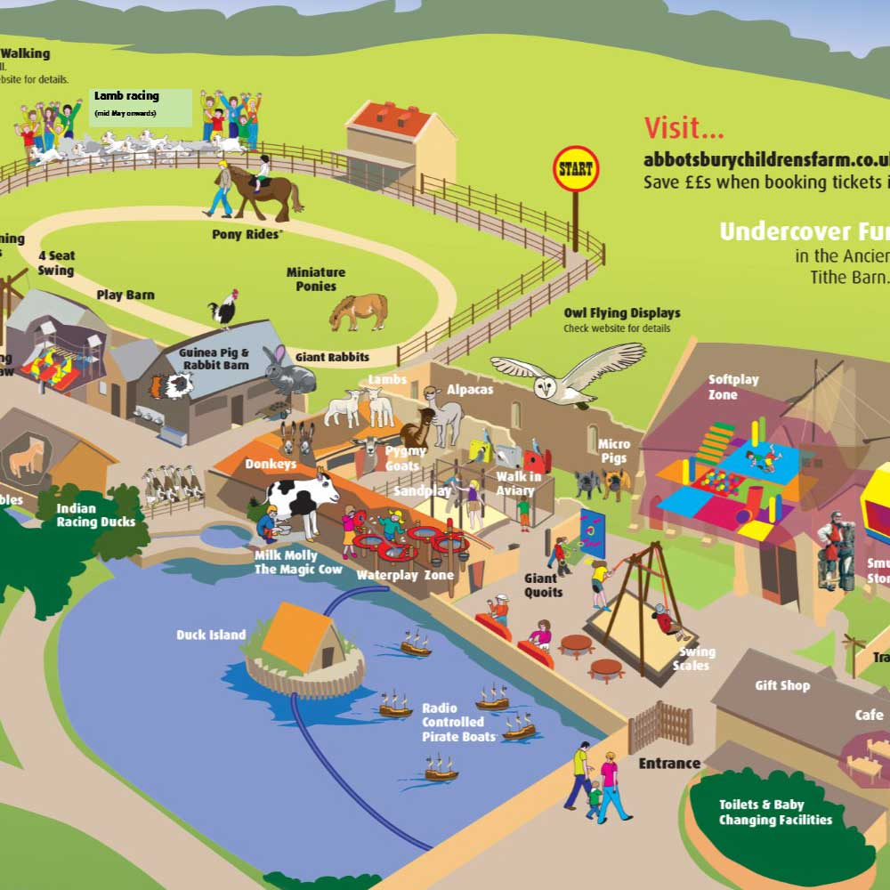 Abbotsbury Children's Farm map