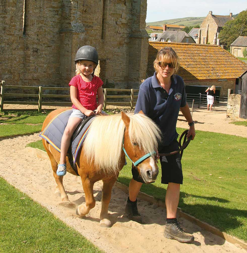 Pony rides at Abbotsbury Children's Farm