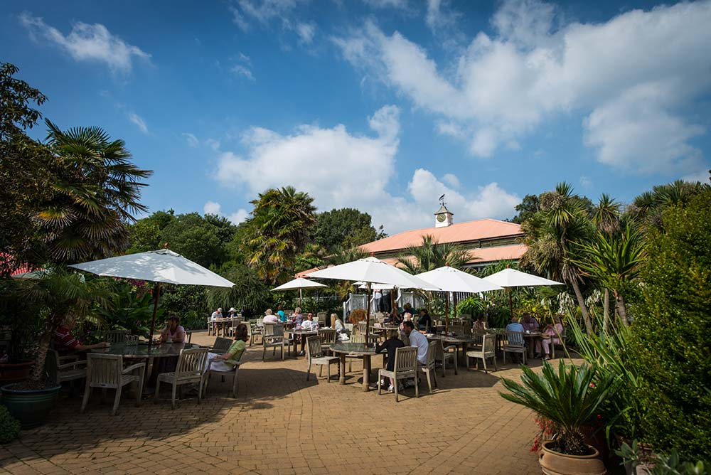 Sit Outside The Colonial Restaurant In The Sunshine