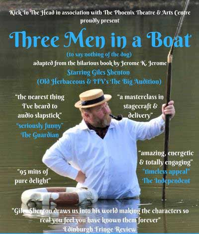 Three Men in a Boat with Giles Shenton - open air theatre at Abbotsbury Subtropical Gardens