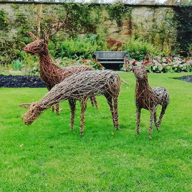 Willow deer workshop with Jo Sadler at Abbotsbury Subtropical Gardens