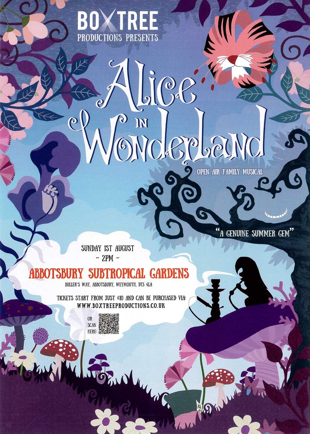 Box Tree Productions presents Alice in Wonderland at Abbotsbury Subtropical Gardens