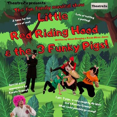 Little Red Riding Hood and the Three Funky Pigs at Abbotsbury Subtropical Gardens