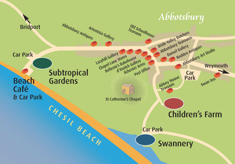 How to find us – Abbotsbury Swannery Dorset England Map on